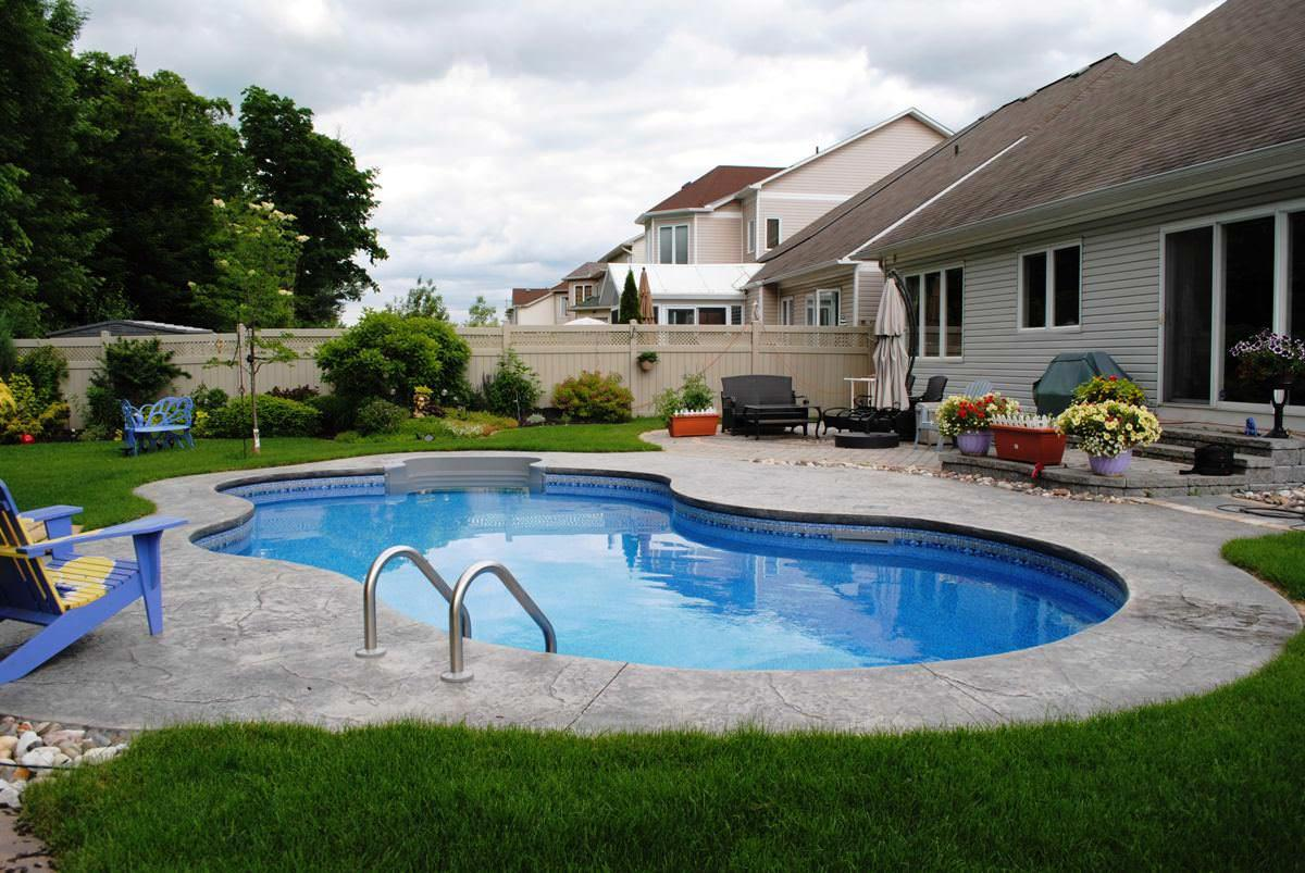 Backyard pool building and maintenance costs for Backyard inground pool designs