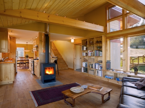 Mixing old and new - integrating a modern wood stove into a rustic home